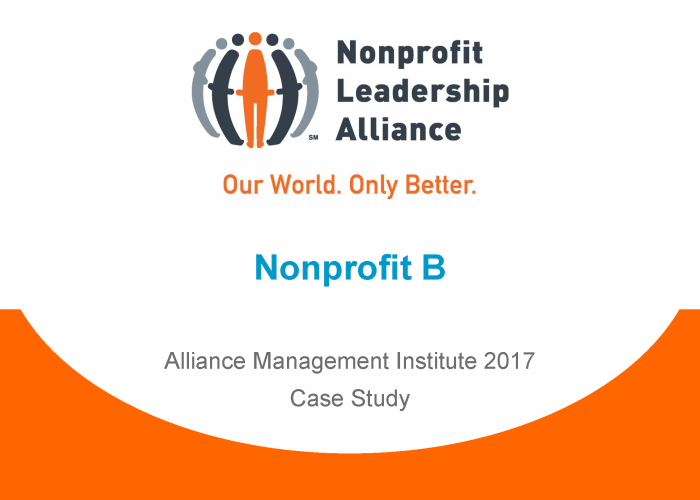 leadership in nonprofits The nonprofit leadership alliance partners with colleges and universities across the country to offer the certified nonprofit professional (cnp) credential to undergraduate, graduate and professional students.