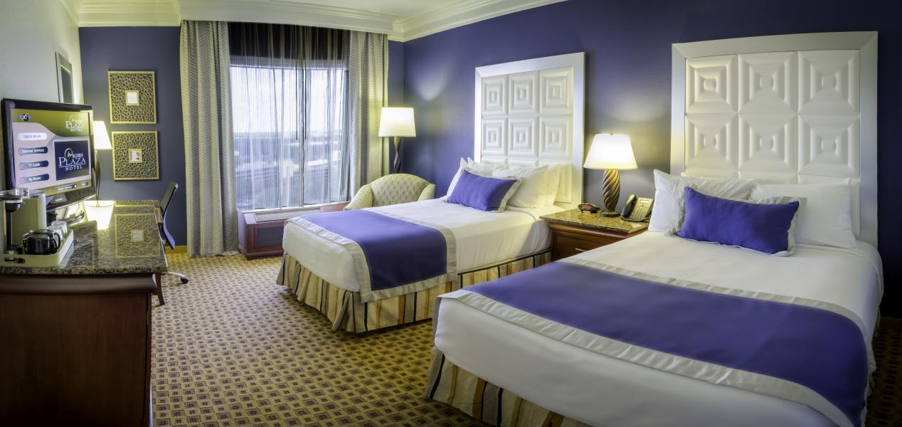 single double beds hotel room share